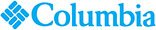 Columbia logo  words blue